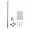 Omni exterior Altelix AU24G9-HQ AU24G9-HQ - ALTELIX Antena 2,4GHz 9dBi Omnidireccional Exterior 12º N-Hembra 82cm