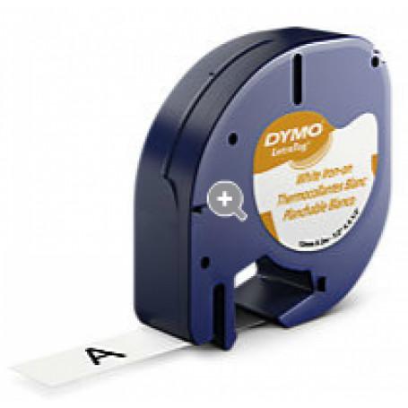 Etiqueta basica 9-12mm DYMO 18771 18771 -DYMO Planchable Negro sobre Blanco 12mm x 2mt Etiqueta Letratag