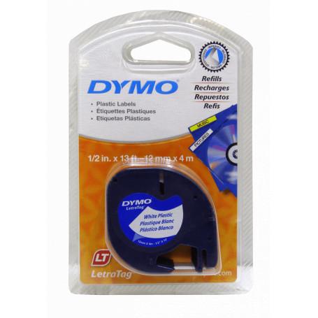 Etiqueta basica 9-12mm DYMO 91331 91331 DYMO NEGRO SOBRE BLANCO 12MM X 4M ETIQUETA PLASTICA LETRATAG
