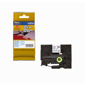TZE-FA3 -BROTHER 12mm AzulMarino en Tela-Blanca Planchable 3mt p/PT-E300VP/H105