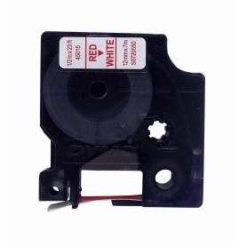 45015 -DYMO 12mm Rojo en Fondo Blanco Cinta 7mt D1-Label Cassette