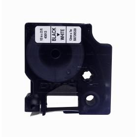 45013 -DYMO 12mm Negro en Fondo Blanco Cinta 7mt D1-Label Cassette