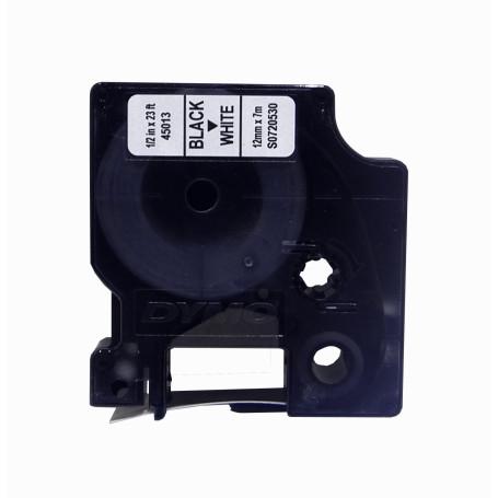 Etiqueta Pro 12mm DYMO 45013 45013 -DYMO 12mm Negro en Fondo Blanco Cinta 7mt D1-Label Cassette