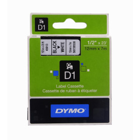 45013 -DYMO 12mm Negro en...