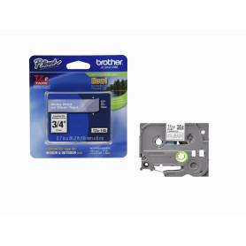 TZE-145 -BROTHER 18mm Blanco en Fondo Transparente Cinta 8mt p/PT-E300/E550