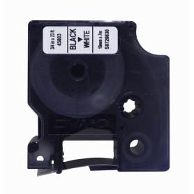 45803 -DYMO 19mm Negro en Fondo Blanco Cinta 7mt D1-Label Cassette