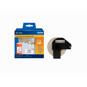 DK1241 -Brother 101x152mm 200-Etiquetas Adhesivas Papel Blanco para-QL 10x15cm