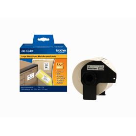 DK1240 -Brother 50,5x101mm 600-Etiquetas Adhesivas Papel Blanco para-QL 5x10cm