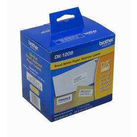 DK1209 -Brother 29x62mm 800-Etiquetas Adhesiv Papel Blanco para serie-QL 3x6cm
