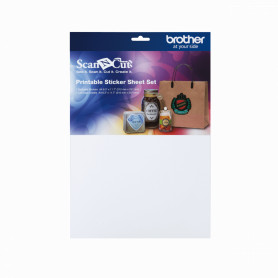 CAPSS1 -BROTHER 7+7 Hojas/Sticker A4 210x297mm Color ScanNcut2 p/Plotter Corte