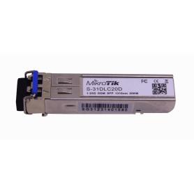 S-31DLC20DI -MIKROTIK 2-LC 20Km SM 1310nm Modulo SFP 1.25Gbps Gigabit Unidad
