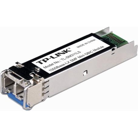Conversor SM monomodo TP-LINK TL-SM311LS TL-SM311LS -TP-LINK SM 2-LC/UPC 10Km 1310nm Modulo SFP 1.25Gbps Gigabit Unidad