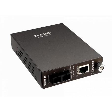 Conversor SM monomodo Dlink DMC-560SC DMC-560SC -D-LINK TRANSCEIVER 60KM COBRE-SMODO SC 100MBPS inc7,5v/1,5A