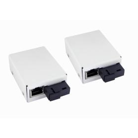 EM-0101-TE -EUROLAN Kit-WDM-peq Conversor Fibra SM 1-SC 1310/1550nm 20KM 100mbps