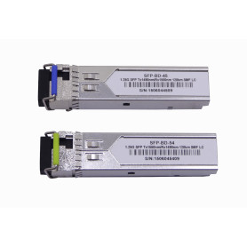 S-4554LC120 -1-LC 120km Pareja SFP WDM Bidireccional 1550nm/1490nm 1.25Gbps