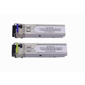 S-3553LC40D -1-LC 40km Pareja SFP WDM Bidireccional 1550nm/1310nm 1.25Gbps
