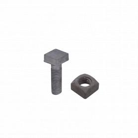 GTL02006 -1/2 x 1 1/2 Perno Cuadrado-13/16 con Tuerca Cuadrada-27mm 0,5x1,5pulg