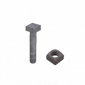 GTL02007 -1/2 x 2 1/2 Perno Cuadrado-13/16 con Tuerca Cuadrada-27mm 0,5x2,5pulg