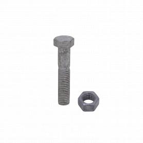 GTL01886 -1/2 x 2 1/2 Perno Hexagonal con Tuerca Hexagonal-19mm-3/4p 0,5x2,5pulg