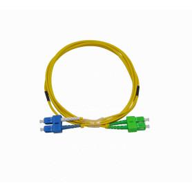 JFSAC2 -2mt SC/APC-SC/UPC MonoModo SM Duplex Jumper Cable Fibra 3mm