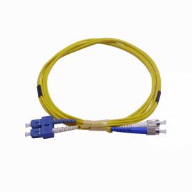 JFSCF2 -2mt SC-FC MonoModo SM Duplex Jumper Cable Fibra 9/125um 3.0mm