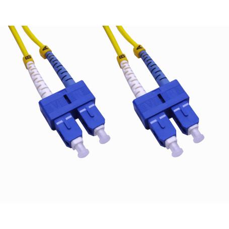 Monomodo 1-6mt Fibra JFSCC1 JFSCC1 1mt SC-SC MonoModo SM Duplex Jumper Cable Fibra 3.0mm 9/125um
