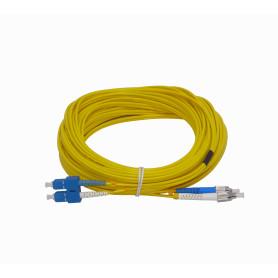 JFSCF15 -15mt SC-FC MonoModo SM Duplex Jumper Cable Fibra 9/125um 3.0mm