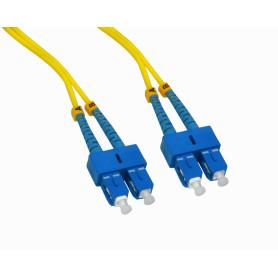 JFSCC10 -10mt SC-SC MonoModo SM Duplex Jumper Cable Fibra 3.0mm 9/125