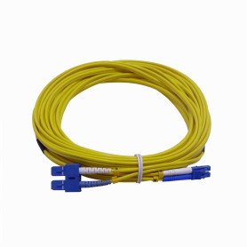 JFSLC10 -10mt LC-SC MonoModo SM Duplex Jumper Cable Fibra 3.0mm 9/125um
