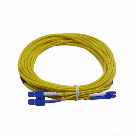 Monomodo 8-15mt Fibra JFSLC10 JFSLC10 -10mt LC-SC MonoModo SM Duplex Jumper Cable Fibra 3.0mm 9/125um