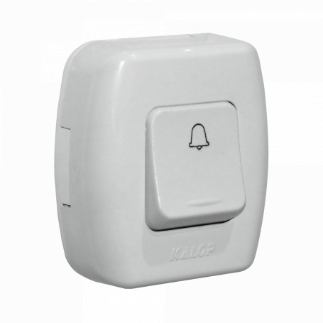 Pulsadores Kalop TIMBRE TIMBRE -KALOP Interruptor Pulsador Blanco Switch Tekna KS39657