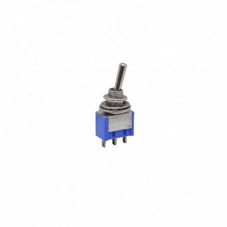 Pulsadores Generico SPDT SPDT -Interruptor 3-pin 2-pos Celeste Perilla 250V/3A 125V/6A 5mm