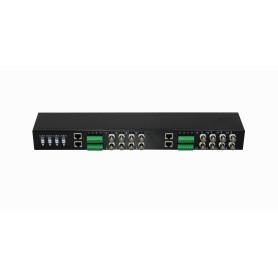 TT-116PHD -Transceiver 16-Balun Pasivo 16-BNCH 16-pin 4-RJ45 720p/1080p Rack