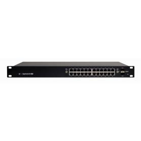 ES24-250W -UBIQUITI Edge 200W-tot 24-1000-PoE24/48af/52at 2-SFP Admin-L3 DHCP