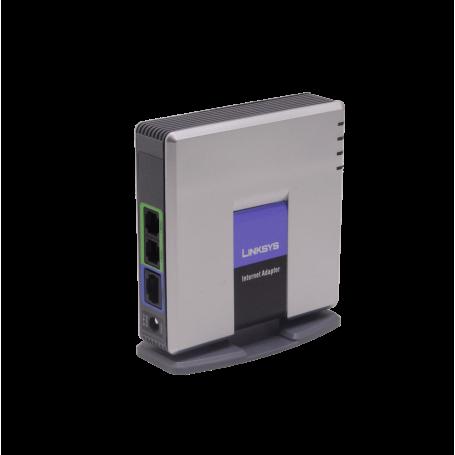 ATA Gateway Linksys PAP2T-NA PAP2T-NA 1-LAN-RJ45 2-FXS-RJ11 SIP ATA Basico inc5V/2A Plug-5,5x2,1mm