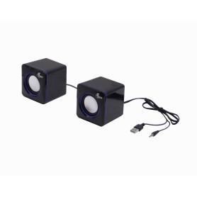 XTS-110 -XTECH Mini Parlantes2.0 5W req-USB-Power 3,5mm-M cable-90cm 7x7x7cm