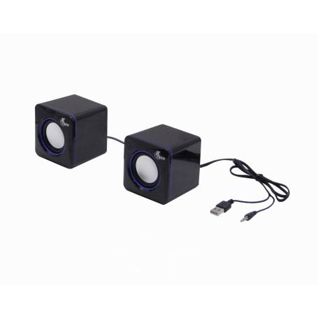 Audifonos / Parlante / Megafonia  XTS-110 XTS-110 -XTECH Mini Parlantes2.0 5W req-USB-Power 3,5mm-M cable-90cm 7x7x7cm