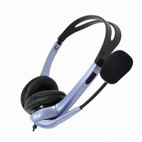 HS-04S -GENIUS 2-3,5mm C/VOL AUDIFONOS STEREO MICROFONO GRANDE Phone-1/8