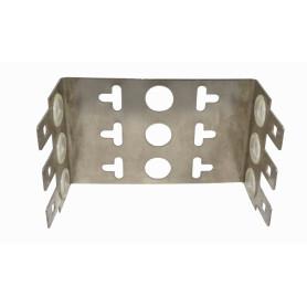 FRAME30P -30-Pares 22mm 3-KRONE Soporte Metalico Base 3-Regletas