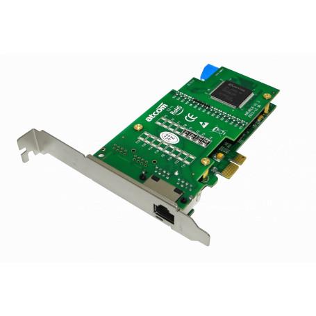 Tarjeta p/Asterisk ATCOM AX-E1DL AX-E1DL -ATCOM PCIe-x1 1-E1/T1/J1 1-RJ45 TARJETA ASTERISK OPCION-EC32L
