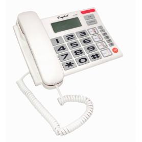 FVA500 -FUJITEL BLANCO TELEFONO ANALOGO 2-RJ11 MESA REQ/4-AA INC-LLAVE-LOCK