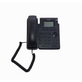 T19PE2 -YEALINK 1-SIP 2-LAN inc5V3W PoE-AF RJ9-Audif Pant-no-ilumi Telefono IP