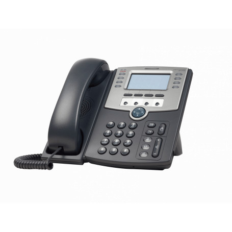 Telefono IP Cisco SPA509G SPA509G -CISCO 12-SIP 2-LAN S/TRAFO-PA100 POE-AF 2.5MM MONOCROMAT TELEFONO IP