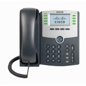 SPA508G -CISCO 8-SIP 2-LAN S/TRAFO-PA100 POE-AF 2.5MM MONOCROMAT TELEFONO IP