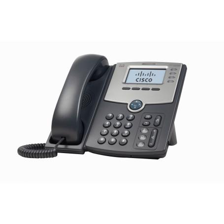 Telefono IP Cisco SPA504G SPA504G -CISCO 4-SIP 2-LAN S/TRAFO-PA100 POE-AF 2.5MM MONOCROMAT TELEFONO IP
