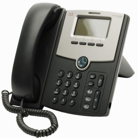 Telefono IP Cisco SPA502G SPA502G -CISCO 1-SIP 2-LAN S/TRAFO-PA100 POE-AF 2.5MM MONOCROMAT TELEFONO IP