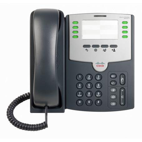 Telefono IP Cisco SPA501G SPA501G -CISCO 8-SIP 2-LAN S/TRAFO-PA100 POE-AF 2.5MM SIN-PANTALLA TELEFONO IP