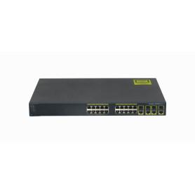 WS-C2960G-24TC-L -CISCO 20-1000 4-SFP-Combo RS232-RJ45/DB9-H Catalyst Switch Reacondicio