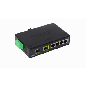 ISW-621TF -PLANET 4-100 2-SFP-100 Switch Industrial no-Admin Riel-DIN 12-48VDC/24
