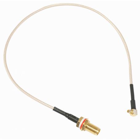 Cable coax armado Mikrotik ACMMCXRPSMA ACMMCXRPSMA -MIKROTIK MMCX-M RPSMA-H PIGTAIL CABLE CA100 26CM